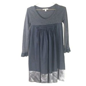 Rebecca Taylor black and grey wool silk dress xs